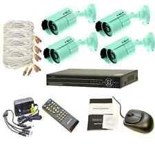 4 Channel  D1 Security Video Surveillance DVR Sony 550TVL CCD Cameras System