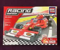 Brictek Racing Championship Red Race Car 159 Pcs 26401 Brand New Never Built