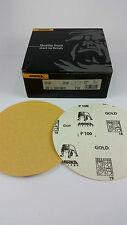 100 x MIRKA Gold Schleifscheiben, sk selbstklebend, P 100 - Ø150 mm - ungelocht