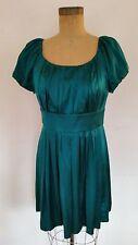 Suzi Chin for Maggy Boutique Dress Teal Silk/Spandex Blend Cocktail Dress Sz 8