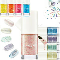 Innisfree Eco Nail Color Pro glitter pearl festival nail polish color top coat