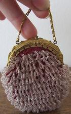 Antico borsellino in perline - oggetto da vetrina - old purse / porte-monnaie