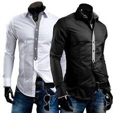 BOLF 0939 Herren Hemd Langarm Casual Business Men Slim Fit Shirt 2B2 Krawatte