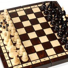 Wooden Board with Chessman12 inch Foldable Board &Pieces Boys & Girls,Mardon No2