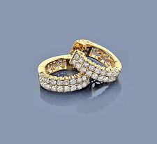 Pendientes Aros Oro amarillo 585 Diamantes Wesselton SI 1,73 Quilates Nuevo
