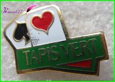 Pin's Jeux de Carte TAPIS VERT 2 as Coeur et pic  #G5