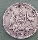 1925 Australian Silver ONE Shilling 1/- ( Shilling ) KING GEORGE V (very Nice)