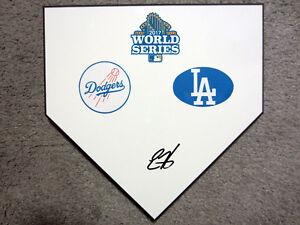 ENRIQUE HERNANDEZ Los Angeles Dodgers SIGNED World Series Home Plate Base w/COA