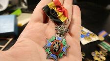 1889 Order Mutuality Belgium Award Civil Service Cross Old Belgian Medal