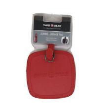 Swiss Gear Red Jumbo Luggage Baggage Tag Travel ID