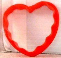 """NEW Plastic VALENTINE - BRIDAL Cookie Cutter FLUTED HEART 2"""" x 2"""" inch"""