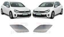 FOR VW GOLF VI GTI / GTD 09-13 NEW FRONT HEADLIGHT WASHER CAP FOR PAINTING PAIR