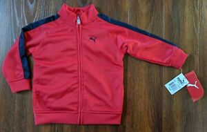 PUMA Infant Boy 24 Months Track Jacket Red Blue Zip Up Lightweight Coat