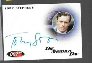A180 Toby Stephens James Bond autograph card 50th Anniversary