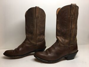 WOMENS UNBRANDED COWBOY BROWN BOOTS SIZE 8.5 M