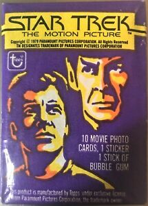 Star Trek The Motion Picture Vintage Trading Cards ONE Wax Pack 1979 Topps NIP