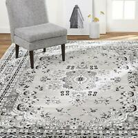 """Carpet Area Rug 7' 8"""" x 10' 7"""" Soft Floral Shabby Chic Bohemian Traditional Gray"""