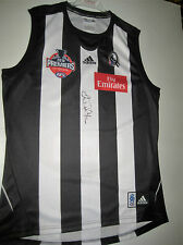 COLLINGWOOD-ALAN DIDAK SIGNED  PREMIERS JERSEY UNFRAMED + PHOTO PROOF & COA