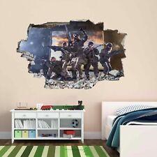 Francotirador Soldado Ejército Militar Guerra 3D Pared Adhesivo Mural Calcomanía Cuarto de Niños Chicos CP63