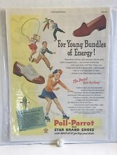 Vintage 1940s Poll Parrot Shoes 👞 Ad Poll-Parrot Great Graphic 1 Day Ship!👍