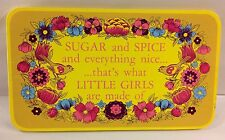 SUGAR AND SPICE EVERYTHING NICE Plaque Picture Sign Decor Nursery York Pa 1971