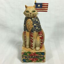 """Jim Shore Heartwood Creek """"With Liberty And Justice For All"""" Freedom Cat~"""