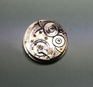Vintage 1903 Waltham Pocket Watch Movement Size 18s 19 Jewels Crescent St.
