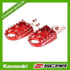 REPOSE CALE PIEDS EVO KAWASAKI KX-F KXF 250 450 KX250F KX450F ROUGE SCAR RACING
