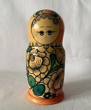 """Vintage Single Wooden Russian Doll Approx 7"""" Tall (17.5cm)"""