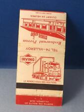 IRVING GAS OIL TRUCK STOP PERRON RESTAURANT VILLEROY QUEBEC MATCHBOOK VINTAGE