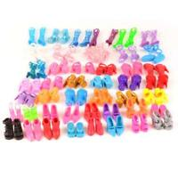 60 Pairs Shoes Fashion Doll Shoes Heels Sandals for Barbie Dolls Outfit