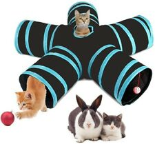 Pet Cat Kitten Puppy Tunnel Play Toy 5 WAY Foldable Exercise Tunnel Funny Toys
