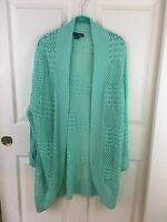 Basic Editions Woman 3x Knit Sweater Mint Green