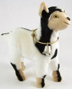 "White & Black 5-1/2"" Sheep with Bell Figurine, Somerita Little Shadow, Heavy"
