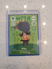 Nan #168 Never Scanned Animal Crossing Amiibo Card in Sleeve and Top Loader