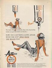 1962 Bain de Soleil PRINT AD Love affair sun Cute Pool house decor themed fun ad