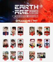 MCND EARTH AGE Authentic ID CARD PHOTO CARD kpop HUIJUN MINJAE Win Castle J Bic