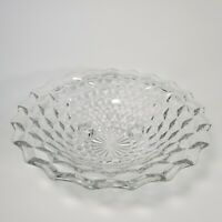 "Vintage Fostoria American Center Piece Footed Bowl Cubist 10.5"""
