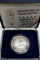 2002 NWT Mint .999 Fine Silver 2 Troy Oz Gem Proof Round - George H.W. Bush