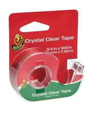 Crystal Clear Invisible Tape Dispenser 1.9cm X 760cm Gloss Finish Duck BRAND