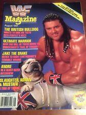 WWF WRESTLING MAGAZINE AUGUST 1991 VINTAGE CATALOG WCW BRITISH BULLDOG MATILDA