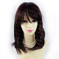 Wiwigs Gorgeous Soft Medium Black Brown & Dark Auburn Mix Ladies Wig