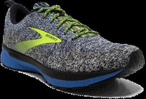 NIB MEN BROOKS 110347 069 REVEL 4 RUNNING CUSHION BLACK/GREY/BLUE SHOE SNEAKERS