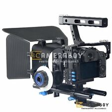 YELANGU C5 DSLR Camera Cage + Follow Focus + Mattebox Kit for GH3 GH4,A7S A7SII