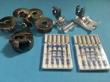 Teflon und Rollenfuß -Spulenkapsel und Spulen + Nadeln für PFAFF Nähmaschinen