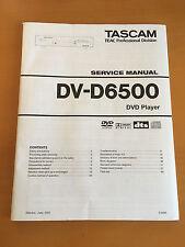 TASCAM DV-D6500 DVD Player Repair / SERVICE Manual Schematics Factory Original