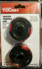 """Hyper Tough 0.065"""" dia X 16' L Twisted Trimmer Line Replacement Spools Pack of 2"""