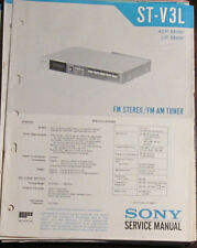 Sony ST-V3L tuner service repair workshop manual (original copy)
