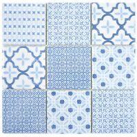 Keramik Mosaik blau Fliese glänzend Wand Küche Bad Dusche 22B-CB04_f