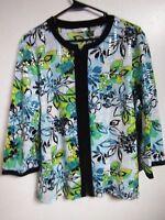 LAURA ASHLEY WOMEN'S  SIZE LARGE DRESS JACKET BLAZER  CAREER WEAR BLOUSE SHINY